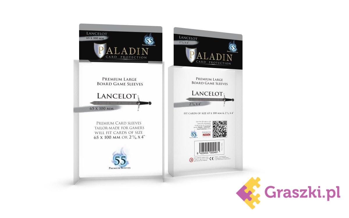 Koszulki na karty Lancelot Premium Large (65x100), 55 sztuk | Paladin